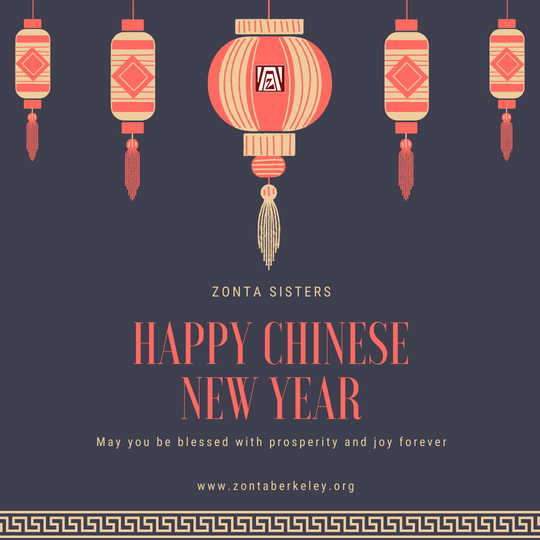Zonta Sisters Happy Chinese New Year