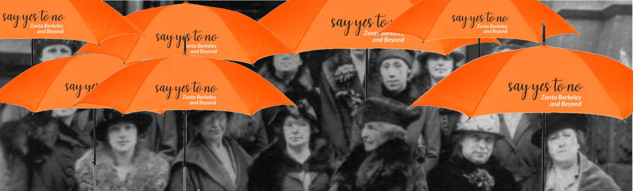 101 zonta founding members with umbrella
