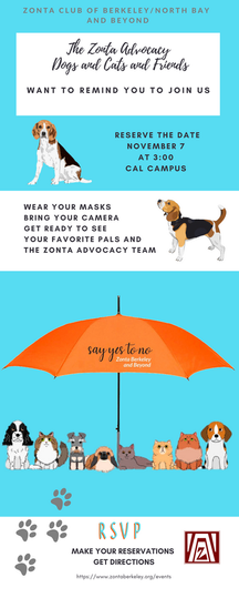 Zonta dogs and cats advocate