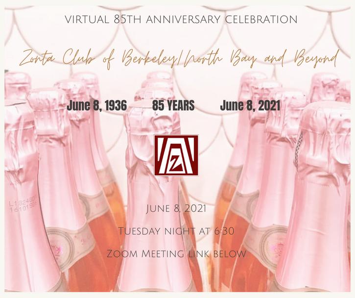 85th celebration champagne