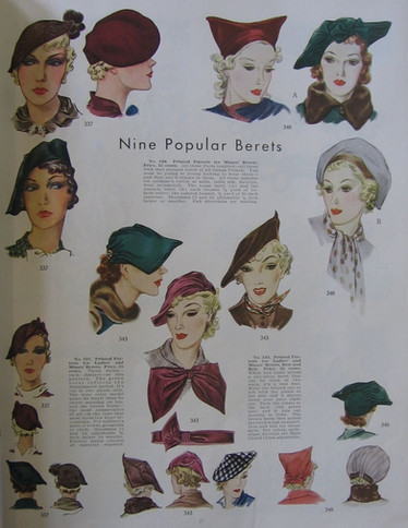 Ladies Hats in Fashion in 1936