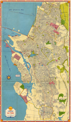 Map of East Bay 1930's