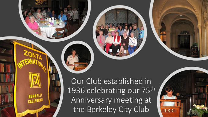 75 Year Celebration of Zonta Berkeley