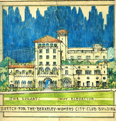 Julia Morgan drawing of Berkeley Womens Club