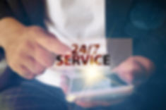 7 SERVICE text on virtual screen. soft l