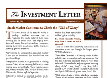 """Stock Market Continues to Climb the """"Wall of Worry"""""""