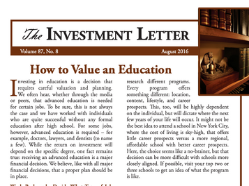 How to Value an Education