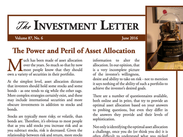 The Power and Peril of Asset Allocation