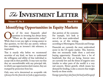Identifying Opportunities in Equity Markets