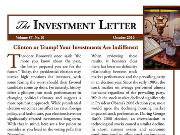 Clinton or Trump? Your Investments Are Indifferent