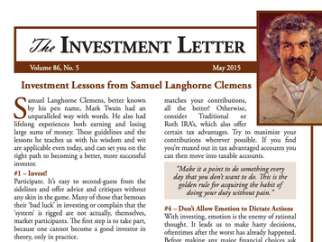 Investment Lessons from Samuel Langhorne Clemens