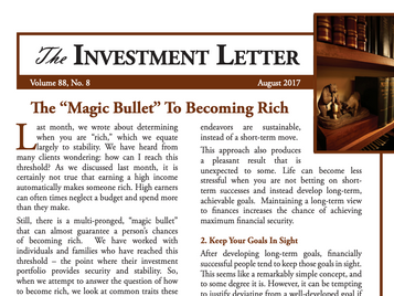 """The """"Magic Bullet"""" To Becoming Rich"""