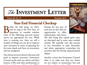 Year-End Financial Checkup