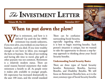 When to Put Down the Plow?