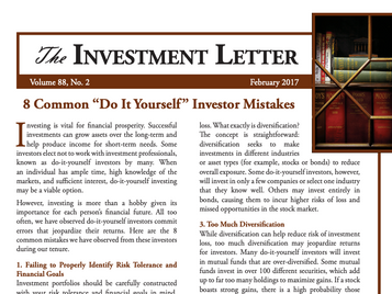 "8 Common ""Do It Yourself"" Investor Mistakes"