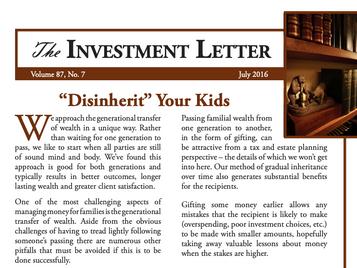 """Disinherit"" Your Kids"