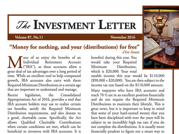 """""""Money for Nothing, and Your (Distributions) for Free"""""""