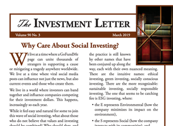 Why Care About Social Investing?