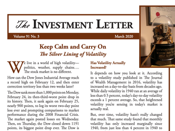 Keep Calm and Carry On: The Silver Lining of Volatility