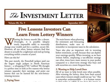 Five Lessons Investors Can Learn From Lottery Winners