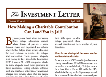 How Making a Charitable Contribution Can Land You in Jail!
