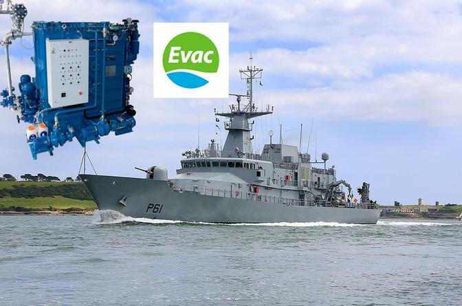 Evac MBR STP's Enter Service on LÉ Samuel Beckett (P61)