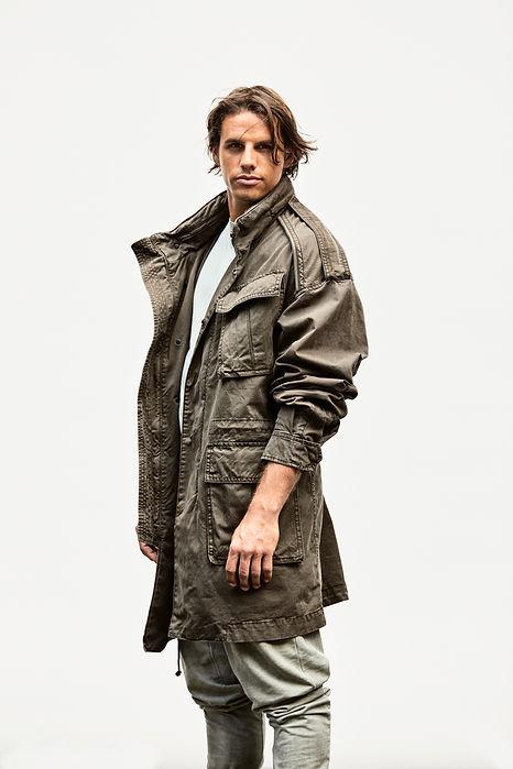 Yann Sommer wearing a jacket. Model and Footballer, Soccerplayer, Goalkeeper.