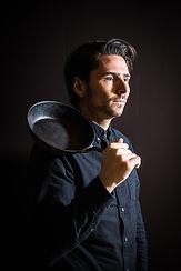 Nenad Mlinarevic holding a pan