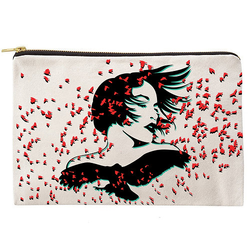 Womanly Wings Zipper Pouch