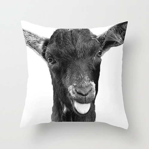 Escape Goat Throw Pillow