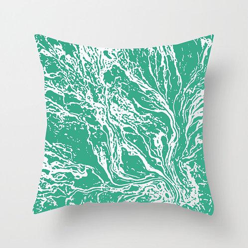 Marble Throw Pillow (mint green)