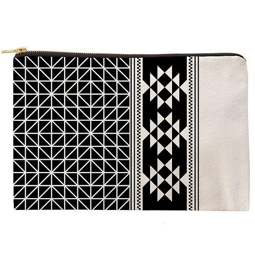 Midwest Black & White Zipper Pouch