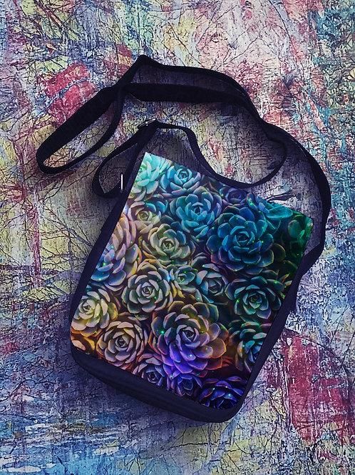 Cosmic Succulent Mini Messenger Bag