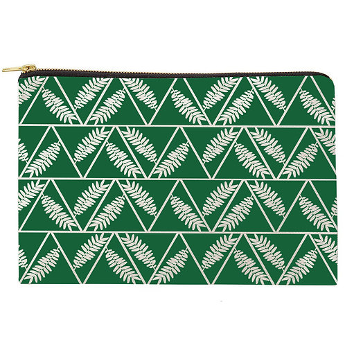 Tri-Leaves Zipper Pouch