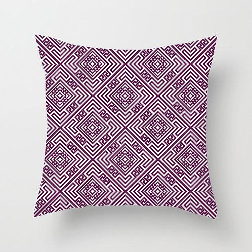 Diamond Tile Throw Pillow (magenta)