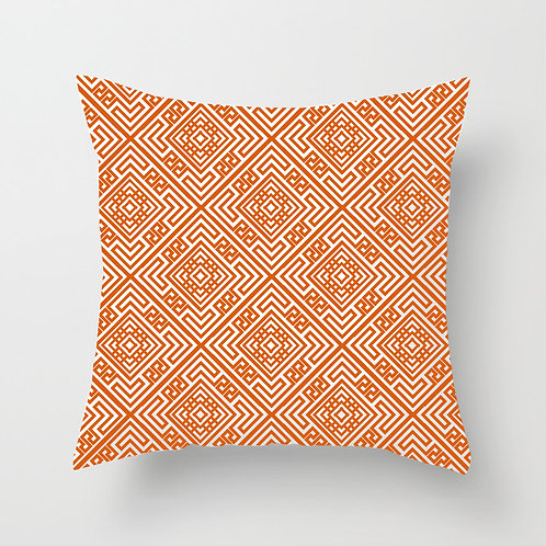 Diamond Tile Throw Pillow (orange)