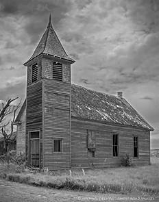 Abandoned Church, Cottonwood, South Dakota