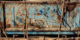 Truck in Barn, near Wirtz, Virginia
