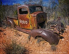Abandoned Truck in a Wash, Near Tropic, Utah.
