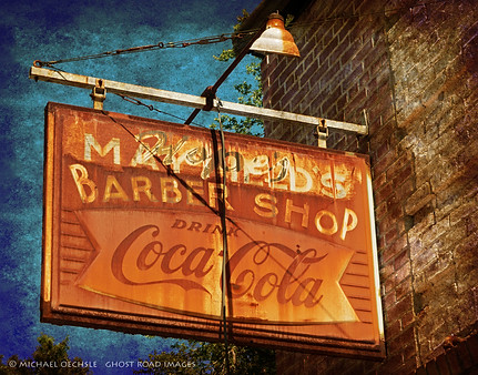 Barber Shop Sign, Chester, South Carolina
