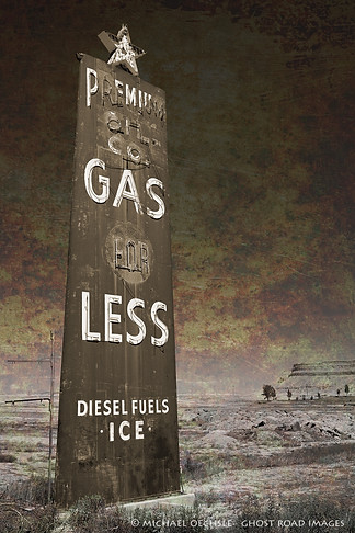 Gas Station Sign, Green River, Utah