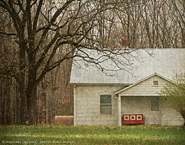 Abandoned House and Red Glider, Charlotte County, Virginia