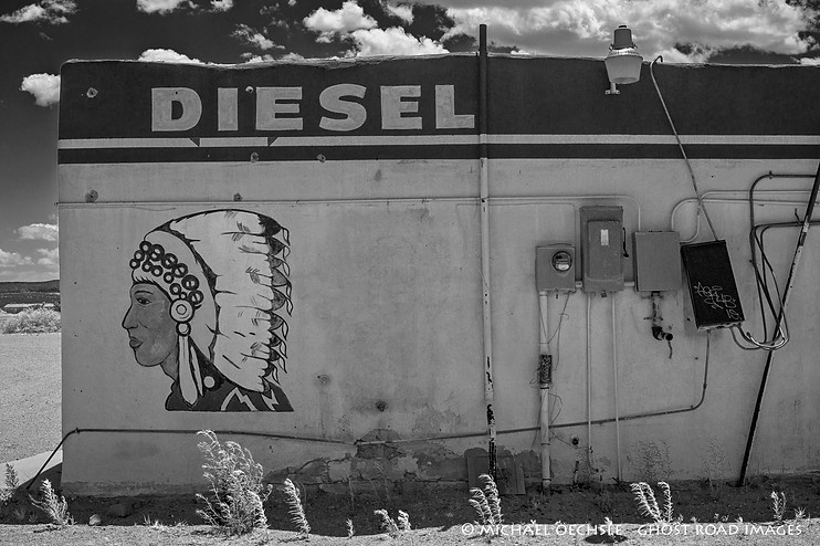 Detail, Big Chief Gas Station and Store, Zia Pueblo, New Mexico