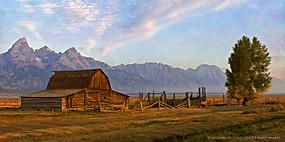 Barn on Mormon Row, Near Jackson, Wyoming