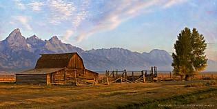 Barn on Mormon Row, Near Jackson, Wyoming