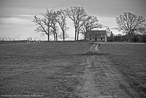 House and Gravestones, Near Gasburg, Virginia