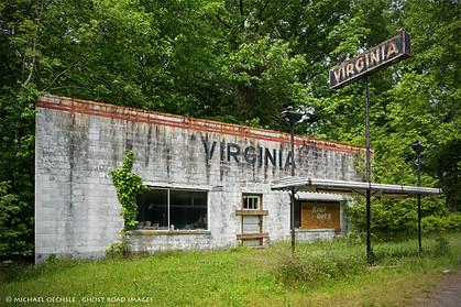 Abandoned Gas Station and Welcome Center, U.S. 1, Virginia/North Carolina Line
