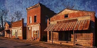 Abandoned Storefronts, Pamplin, Virginia