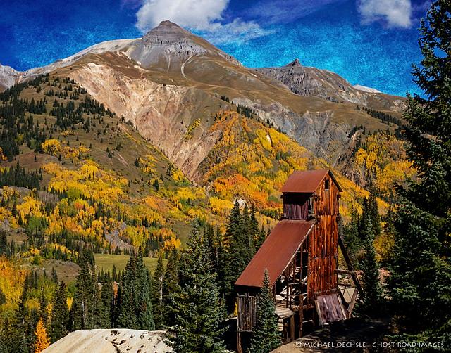 Yankee Girl Mine Headframe, Red Mountain, Colorado