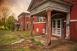 Abandoned School and Administration Building, Charlotte Courthouse, Virginia
